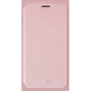 Чехол горизонтальная книжка подставка текстура Линии на силиконовой основе для Xiaomi RedMi 4X Розовый