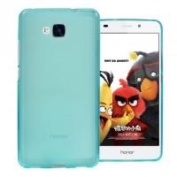 Силиконовый матовый полупрозрачный чехол для Huawei Honor 5C Голубой
