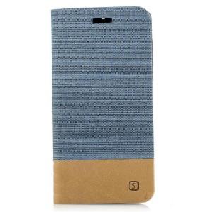 Чехол горизонтальная книжка подставка на силиконовой основе с отсеком для карт и тканевым покрытием для Nokia 6
