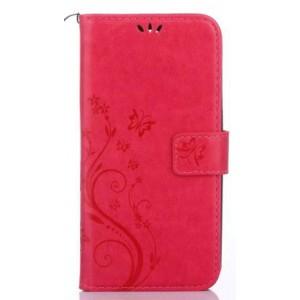 Чехол портмоне подставка текстура Цветы на силиконовой основе с отсеком для карт на магнитной защелке для Nokia 6