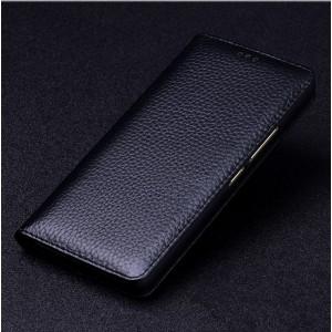 Кожаный чехол горизонтальная книжка (премиум нат. кожа) для Nokia 6