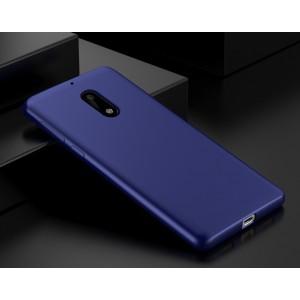 Силиконовый матовый непрозрачный чехол для Nokia 6