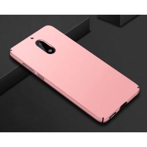 Пластиковый непрозрачный матовый нескользящий чехол с допзащитой торцев для Nokia 6