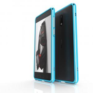 Металлический округлый бампер сборного типа на винтах для Nokia 6