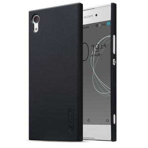 Пластиковый непрозрачный матовый нескользящий премиум чехол с повышенной шероховатостью для Sony Xperia XA1