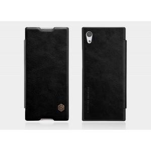 Кожаный чехол горизонтальная книжка на пластиковой основе для Sony Xperia XA1  Черный