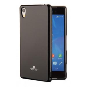 Силиконовый глянцевый непрозрачный чехол для Sony Xperia XA1  Черный