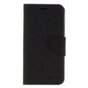 Чехол портмоне подставка на силиконовой основе с отсеком для карт на магнитной защелке для Sony Xperia XA1  Черный
