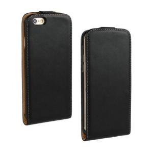 Чехол вертикальная книжка на пластиковой основе на магнитной защелке для Iphone 6/6s Черный