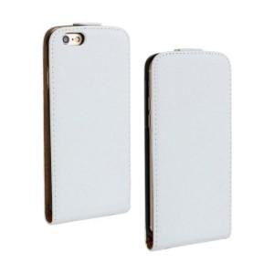 Чехол вертикальная книжка на пластиковой основе на магнитной защелке для Iphone 6/6s Белый