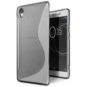 Силиконовый матовый непрозрачный чехол с дизайнерской текстурой S для Sony Xperia XA1 Ultra