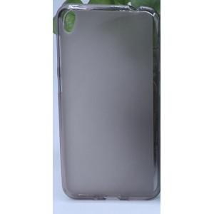 Силиконовый матовый полупрозрачный чехол для Asus ZenFone Live Черный