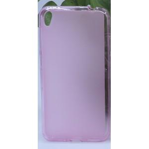 Силиконовый матовый полупрозрачный чехол для Asus ZenFone Live Розовый