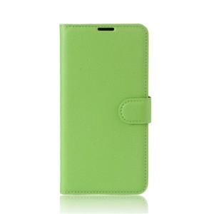 Чехол портмоне подставка на силиконовой основе с отсеком для карт на магнитной защелке для Asus ZenFone Live Зеленый