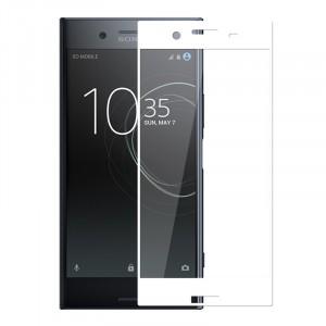 Полноэкранное ультратонкое износоустойчивое сколостойкое олеофобное защитное стекло-пленка для Sony Xperia XZ Premium