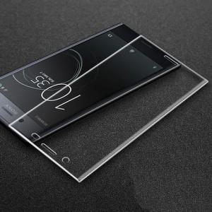 Ультратонкая транспарентная износоустойчивая сколостойкая олеофобная защитная объемная стеклянная панель на плоскую и изогнутые поверхности экрана для Sony Xperia XZ Premium