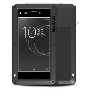Эксклюзивный многомодульный ультрапротекторный пылевлагозащищенный ударостойкий нескользящий чехол алюминиево-цинковый сплав/силиконовый полимер с закаленным защитным стеклом для Sony Xperia XZ Premium