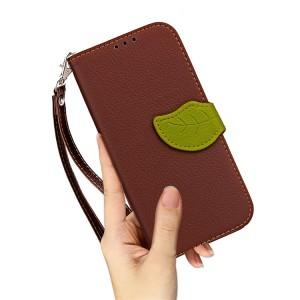 Чехол портмоне подставка на силиконовой основе с отсеком для карт на дизайнерской магнитной защелке для Asus ZenFone 3 Zoom  Бежевый
