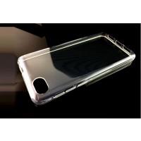 Силиконовый глянцевый транспарентный чехол для Alcatel A5 LED