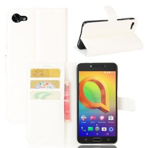 Чехол портмоне подставка на силиконовой основе с отсеком для карт на магнитной защелке для Alcatel A5 LED