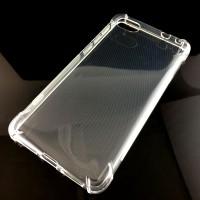 Силиконовый глянцевый транспарентный чехол с усиленными углами для Alcatel A5 LED