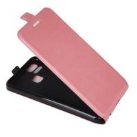 Чехол вертикальная книжка на силиконовой основе с отсеком для карт на магнитной защелке для Asus ZenFone 3 Zoom Розовый