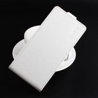 Чехол вертикальная книжка на силиконовой основе с отсеком для карт на магнитной защелке для ASUS ZenFone 3 Max ZC553KL  Белый