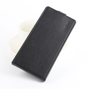 Чехол вертикальная книжка на силиконовой основе с отсеком для карт на магнитной защелке для LeEco Le 2 Черный
