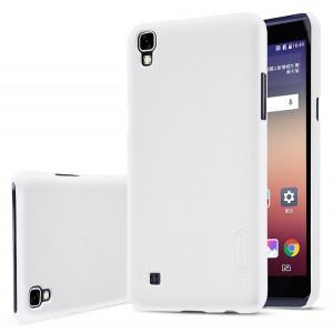 Пластиковый непрозрачный матовый нескользящий премиум чехол для LG X Power