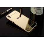 Двухкомпонентный чехол c металлическим бампером с поликарбонатной накладкой и зеркальным покрытием для LG X Power