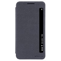 Чехол горизонтальная книжка на пластиковой матовой нескользящей премиум основе с окном вызова для LG X Power  Черный
