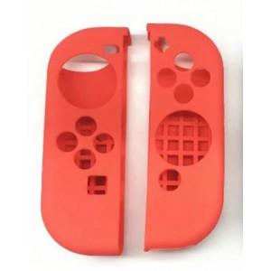 Силиконовый матовый непрозрачный чехол для Joycon Nintendo Switch Красный