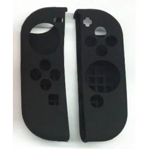 Силиконовый матовый непрозрачный чехол для Joycon Nintendo Switch Черный