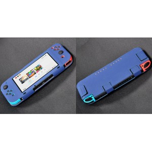 Чехол с рамочной защитой экрана на липучках для Nintendo Switch  Синий