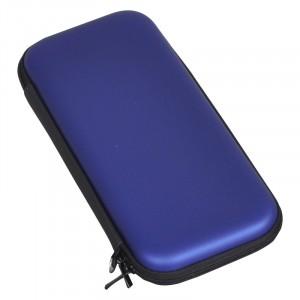 Папка футляр повышенной жесткости с отсеком для карт на молнии для Nintendo Switch  Синий