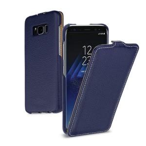 Кожаный чехол вертикальная книжка (премиум нат. кожа) для Samsung Galaxy S8