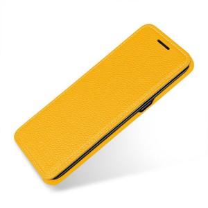 Кожаный чехол горизонтальная книжка (премиум нат. кожа) для Samsung Galaxy S8