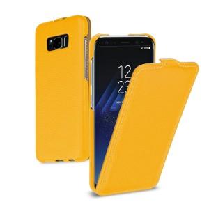 Кожаный чехол вертикальная книжка (премиум нат. кожа) для Samsung Galaxy S8 Plus