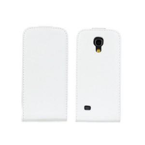 Чехол вертикальная книжка на пластиковой основе на магнитной защелке для Samsung Galaxy S4 Mini Белый