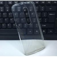 Силиконовый глянцевый транспарентный чехол для Lenovo Moto X Style