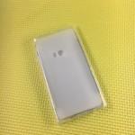 Силиконовый матовый полупрозрачный чехол с нескользящим софт-тач покрытием для Nokia Lumia 920