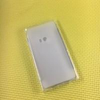 Силиконовый матовый полупрозрачный чехол с нескользящим софт-тач покрытием для Nokia Lumia 920  Белый