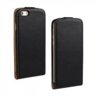 Чехол вертикальная книжка на пластиковой основе на магнитной защелке для Iphone 6 Plus/6s Plus Черный
