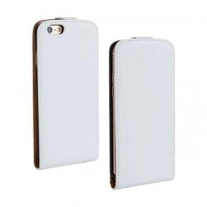 Чехол вертикальная книжка на пластиковой основе на магнитной защелке для Iphone 6 Plus/6s Plus Белый
