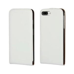 Чехол вертикальная книжка на пластиковой основе на магнитной защелке для Iphone 7 Plus/8 Plus Белый