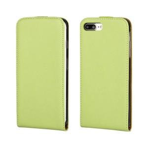 Чехол вертикальная книжка на пластиковой основе на магнитной защелке для Iphone 7 Plus/8 Plus Зеленый