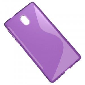 Силиконовый матовый полупрозрачный чехол с дизайнерской текстурой S для Nokia 3