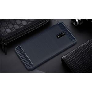 Силиконовый матовый непрозрачный чехол с текстурным покрытием Металлик для Nokia 3