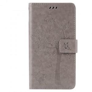 Чехол горизонтальная книжка подставка текстура Дерево на силиконовой основе с отсеком для карт на магнитной защелке для HTC Desire 830