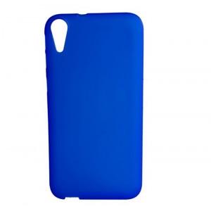 Силиконовый матовый непрозрачный чехол для HTC Desire 830  Синий